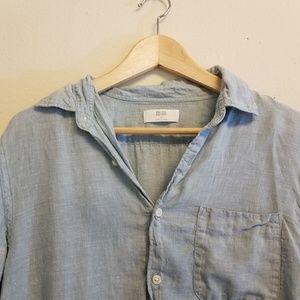 Uniqlo Rumpled Linen Shirt Medium